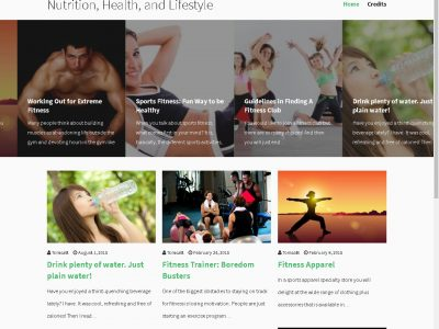 Nutrition, health and lifestyle website image
