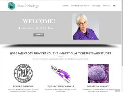 Rose Pathology website image